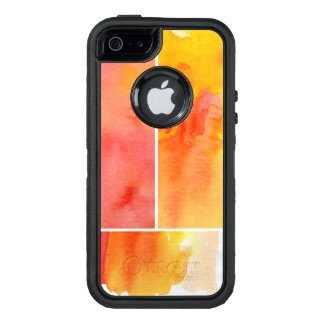 Set of abstract  watercolor hand painted OtterBox defender iPhone case