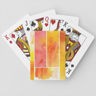 Set of abstract  watercolor hand painted playing cards