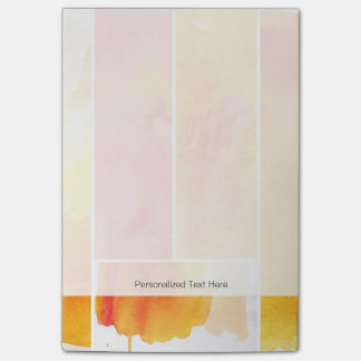 Set of abstract  watercolor hand painted post-it notes