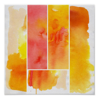 Set of abstract  watercolor hand painted poster