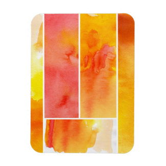 Set of abstract  watercolor hand painted rectangular photo magnet