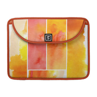 Set of abstract  watercolor hand painted sleeve for MacBook pro