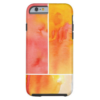 Set of abstract watercolor hand painted tough iPhone 6 case