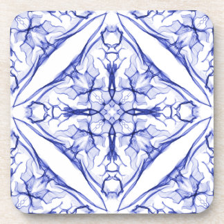 Set Of Blue Medieval Cross Coaster