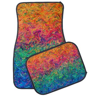 Set of Car Mats Fluid Colors