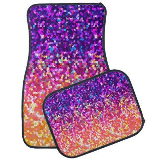 Set of Car Mats Glitter Graphic