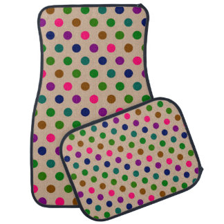 Set of Car Mats Polka Dots