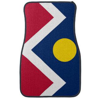 Set of car mats with Flag of Denver City, USA
