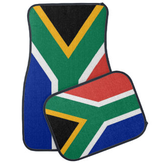 Set of car mats with Flag of South Africa