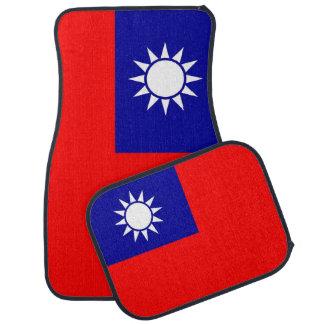 Set of car mats with Flag of Taiwan