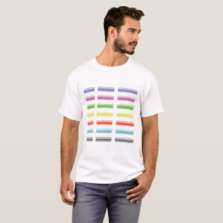 Set of Colorful Glass Buttons Isolated on White Ba T-Shirt