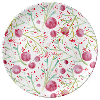 Set of dishes Watercolors Porcelain Plate
