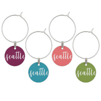 Set of Four Wine Charms