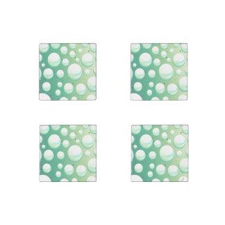 Set of magnets mint aqua green bubbles stone magnet