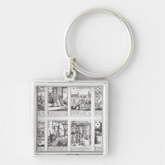 Set of Playing Cards depicting Satirical Key Ring