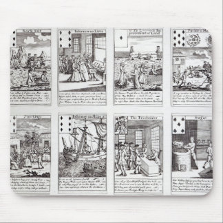 Set of Playing Cards depicting Satirical Mouse Mat