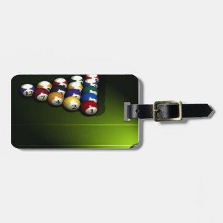 Set of pool balls tag for luggage