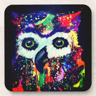 Set of Rainbow Owl Coasters