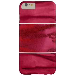 Set of red watercolor abstract hand painted barely there iPhone 6 plus case