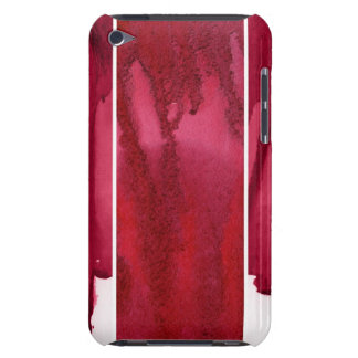 Set of red watercolor abstract hand painted barely there iPod cases