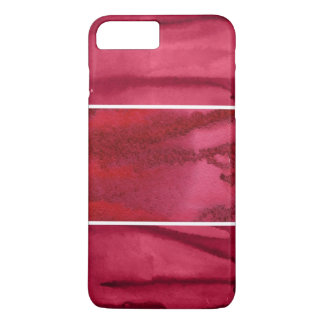Set of red watercolor abstract hand painted iPhone 8 plus/7 plus case