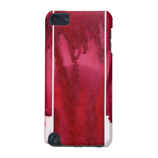 Set of red watercolor abstract hand painted iPod touch (5th generation) covers