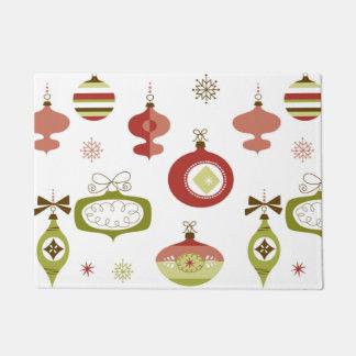 Set of Retro Christmas Ornaments Doormat