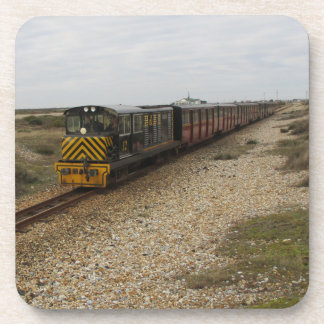 Set Of Six Drinks Coasters With Diesel Train