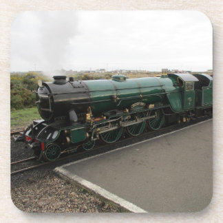 Set Of Six Drinks Coasters With Steam Train