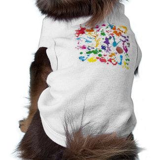 Set of Stains Vector Illustration Sleeveless Dog Shirt