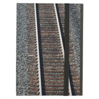 set of train tracks iPad air cover