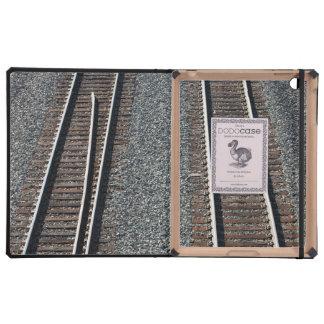 set of train tracks iPad cover