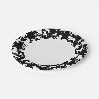 set of unicorns 7 inch paper plate
