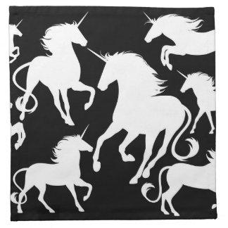 set of unicorns napkin