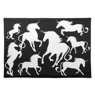 set of unicorns placemat
