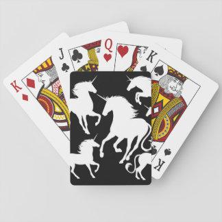 set of unicorns playing cards