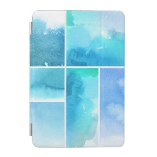 Set of watercolor abstract hand painted 2 iPad mini cover