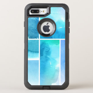 Set of watercolor abstract hand painted 2 OtterBox defender iPhone 8 plus/7 plus case