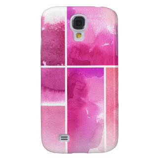 Set of watercolor abstract hand painted 3 galaxy s4 case