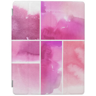Set of watercolor abstract hand painted 3 iPad cover