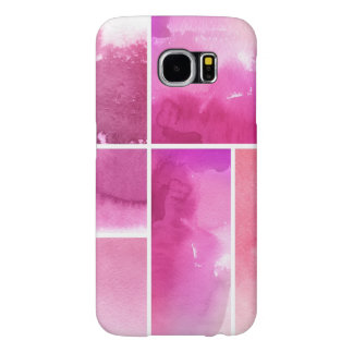Set of watercolor abstract hand painted 3 samsung galaxy s6 cases
