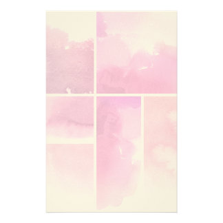 Set of watercolor abstract hand painted 3 stationery design