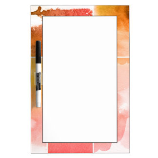 Set of watercolor abstract hand painted 4 Dry-Erase board