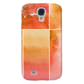Set of watercolor abstract hand painted 4 galaxy s4 case