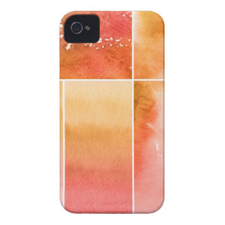 Set of watercolor abstract hand painted 4 iPhone 4 cover