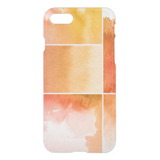 Set of watercolor abstract hand painted 4 iPhone 8/7 case
