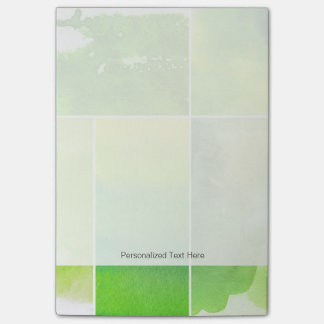 Set of watercolor abstract hand painted post-it notes