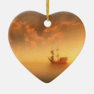 Set Sail Ceramic Heart Decoration