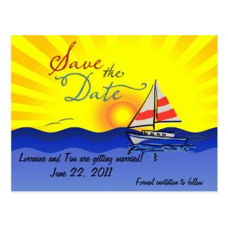 Set Sail Save the Date Postcard