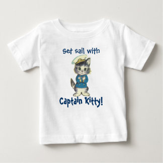 Set Sail with Captain Kitty Baby T-Shirt